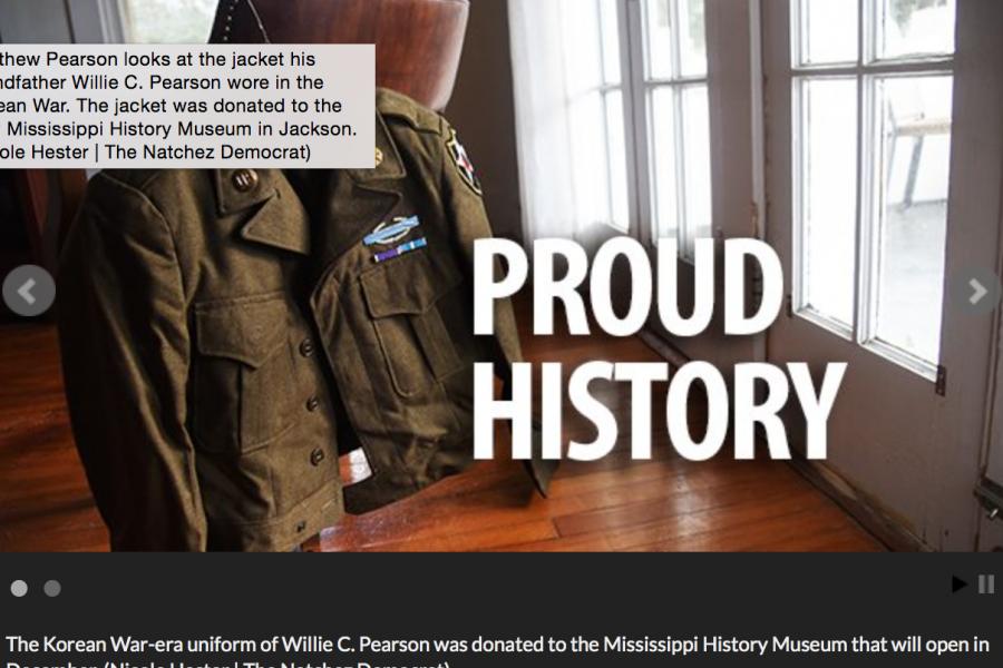 Natchez Democrat: Family donates jacket to new state history museum